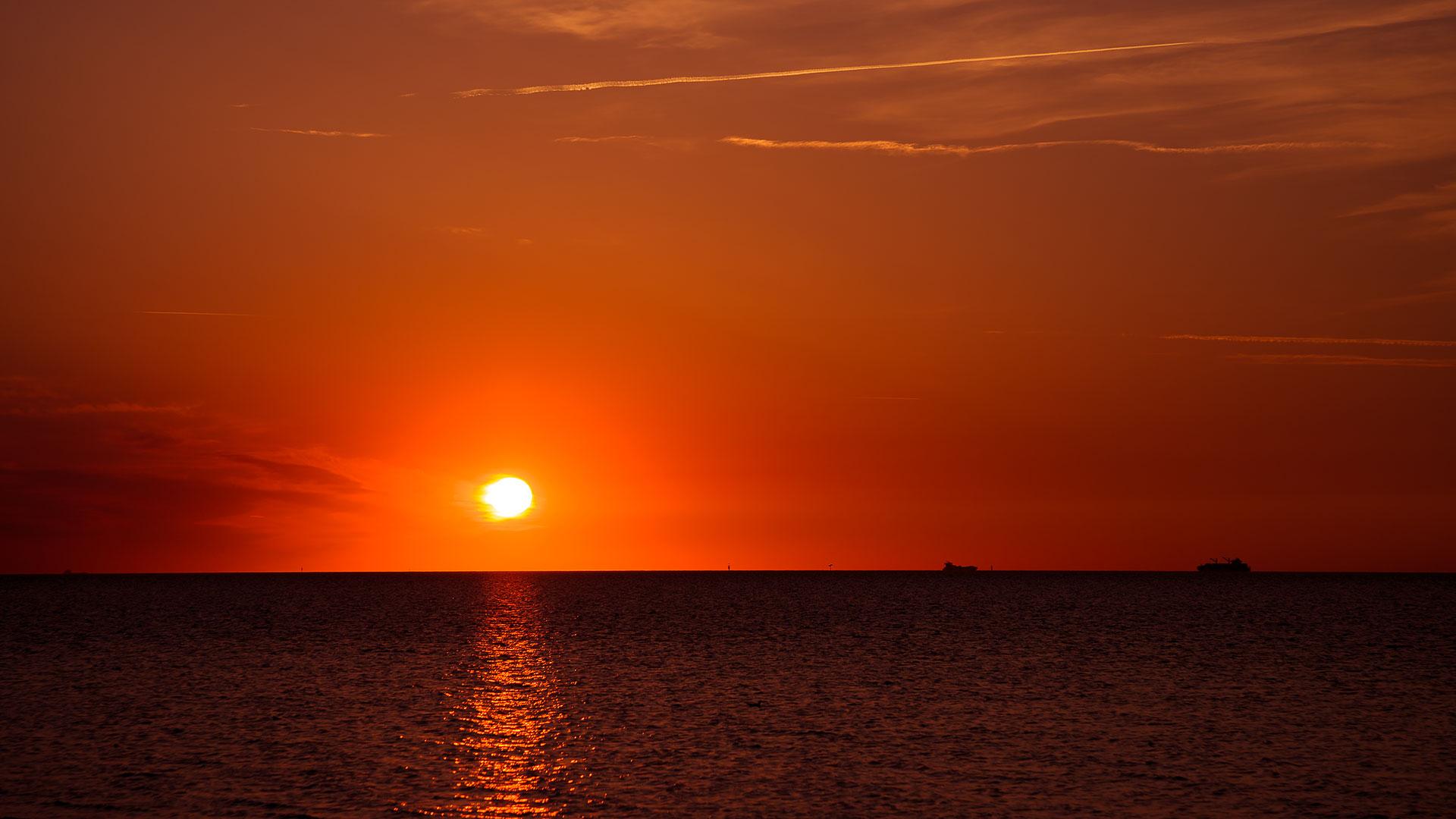 Sonnenuntergang Döse